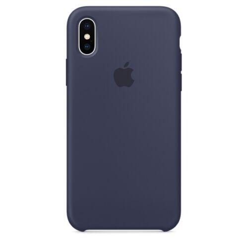 Apple iPhone X szilikontok – éjkék