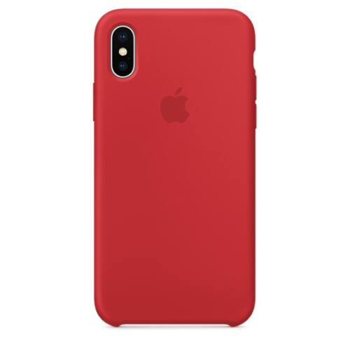 Apple iPhone X szilikontok – piros