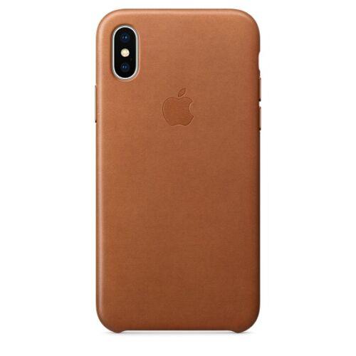 Apple iPhone X bőrtok – vörösesbarna