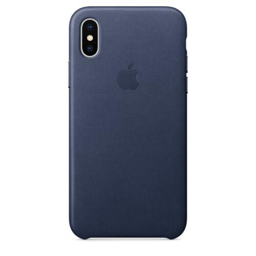 Apple iPhone X bőrtok – éjkék