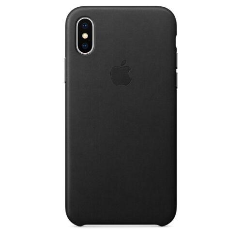 Apple iPhone X bőrtok – fekete