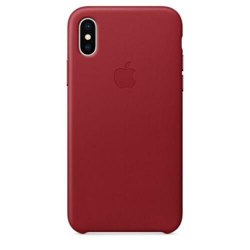 Apple iPhone X bőrtok – piros