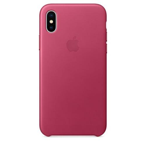 Apple iPhone X bőrtok – fuksziapink
