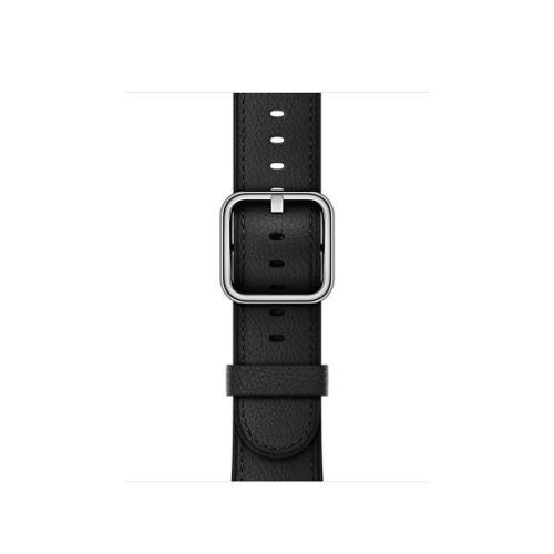 Apple Watch 38 mm-es klasszikus csatos bőrszíj- fekete