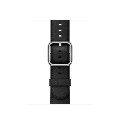 Apple Watch 42 mm-es klasszikus csatos bőrszíj- fekete