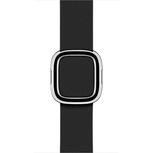 Apple Watch 38 mm-es, fekete szíj modern csattal, nagy