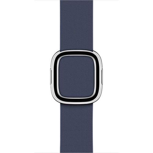 Apple Watch 38 mm-es, éjkék szíj modern csattal, nagy