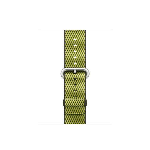 Apple Watch 38 mm-es, sötét olívazöld, kockás szőtt műanyag szíj