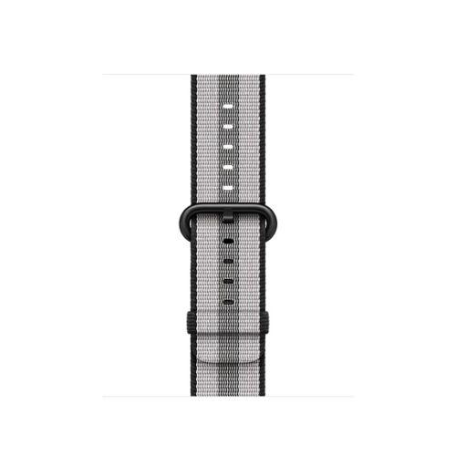 Apple Watch 38 mm-es fekete, csíkos szőtt műanyag szíj