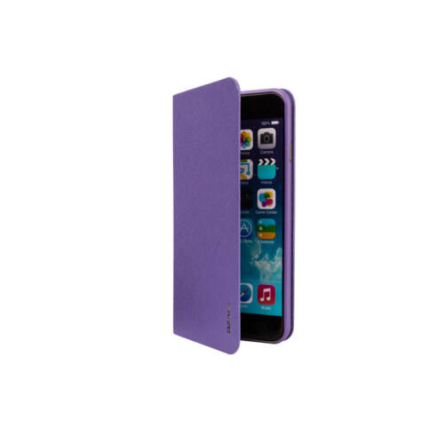 Ozaki OC558PU iPhone 6/6s bőr flip tok, lila