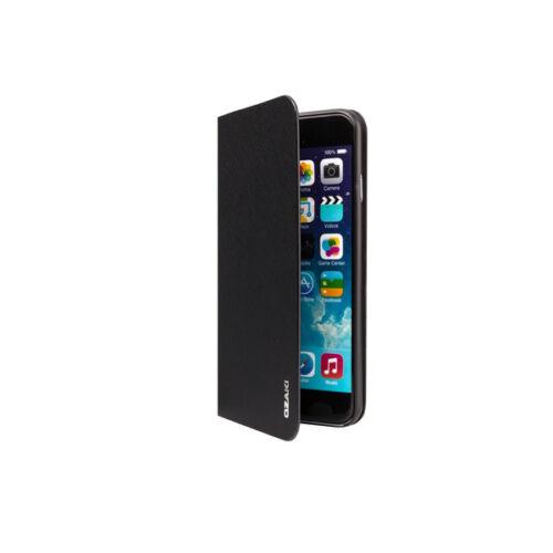 Ozaki OC581BK iPhone 6Plus/6s Plus bőr flip tok, fekete
