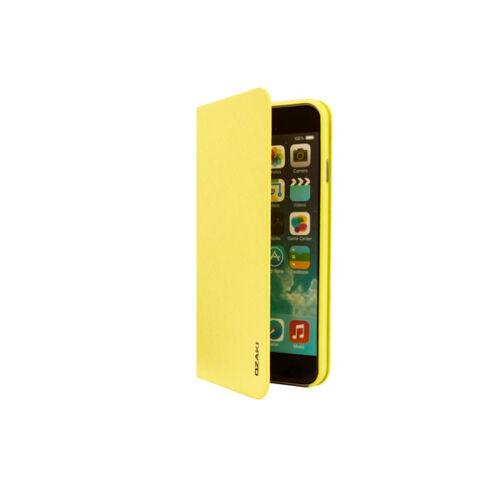 Ozaki OC581WS iPhone 6Plus/6s Plus bőr flip tok, sárga