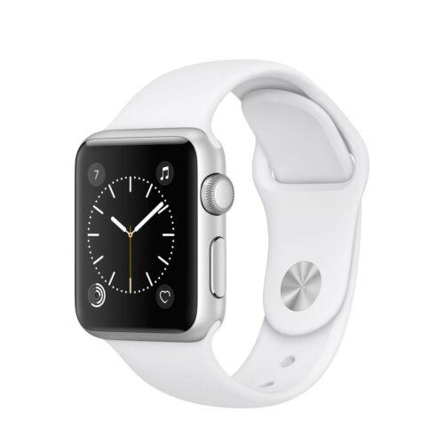 Apple Watch Series 1 - 38 mm-es, ezüst színű alumíniumtok fehér sportszíjjal