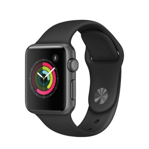 Apple Watch Series 1 - 38 mm-es, asztroszürke színű alumíniumtok fekete sportszíjjal