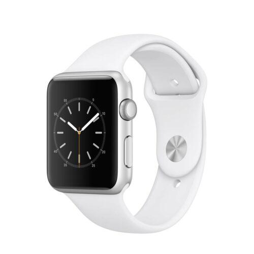 Apple Watch Series 1 - 42 mm-es, ezüst színű alumíniumtok fehér sportszíjjal