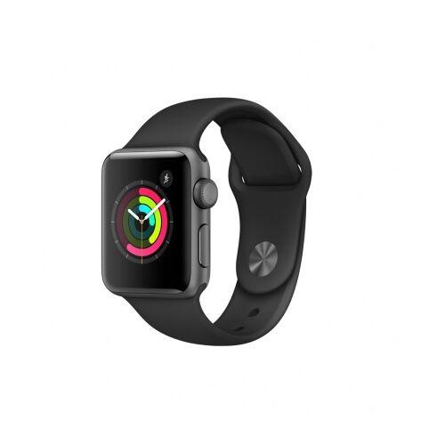 Apple Watch Series 3 - 42 mm-es, asztroszürke alumíniumtok fekete sportszíjjal