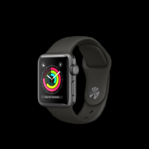 Apple Watch Series 3 - 42 mm-es, asztroszürke alumíniumtok szürke sportszíjjal