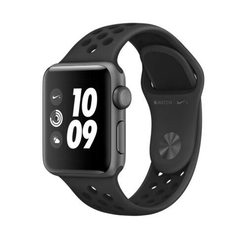 Apple Watch Series 3 - 38 mm-es, asztroszürke alumíniumtok fekete–antracit-fekete Nike sportszíjjal